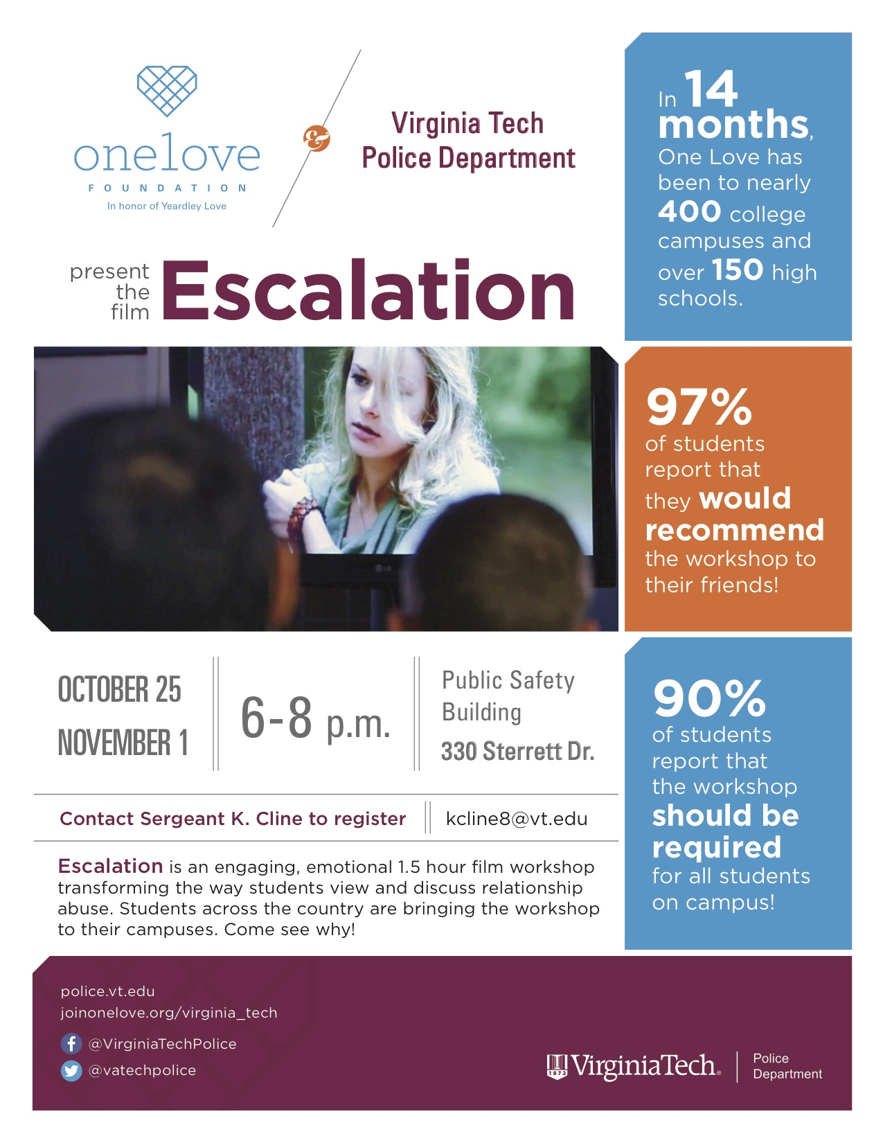 One Love Foundation presents the film Escalation