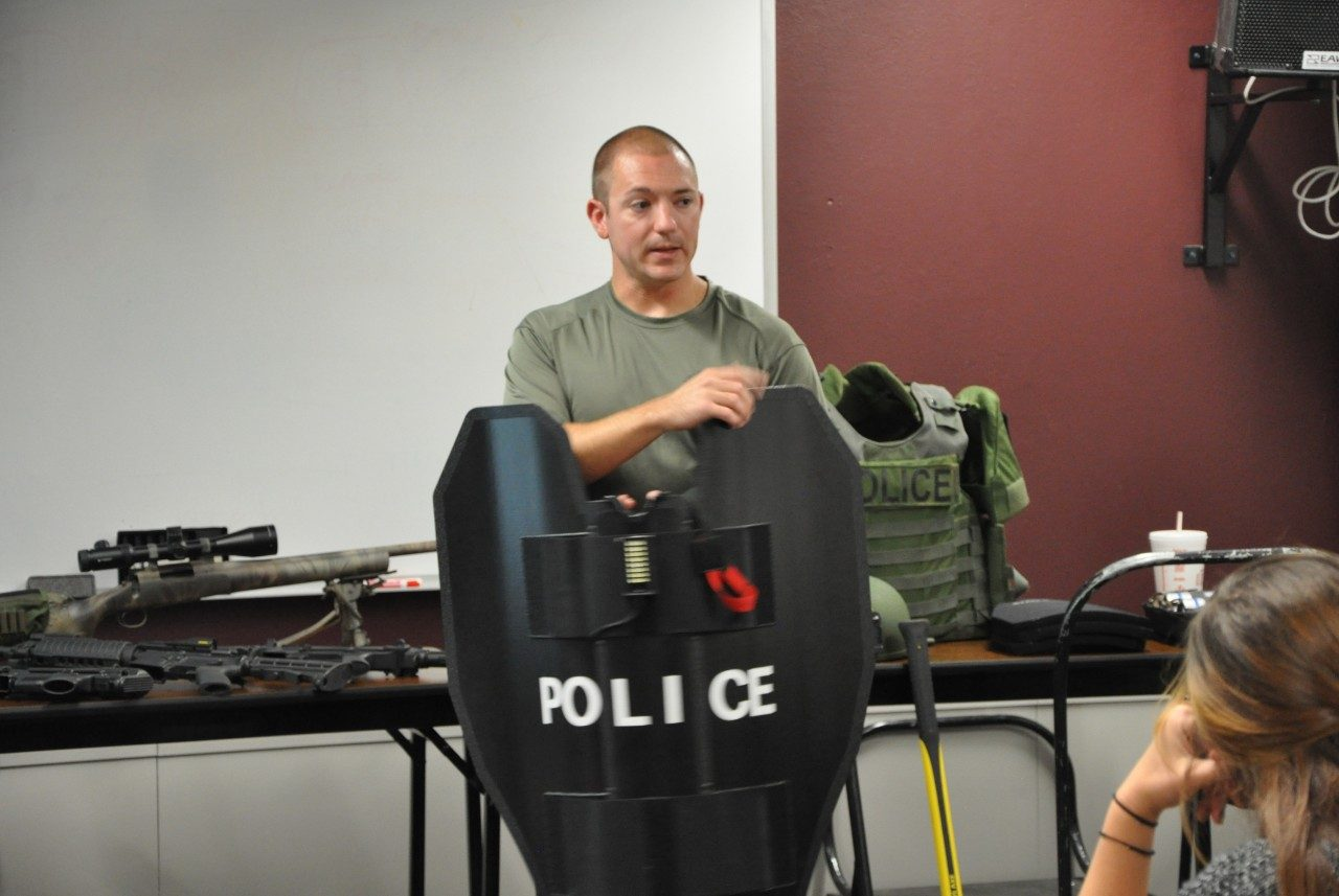 A session during police academy
