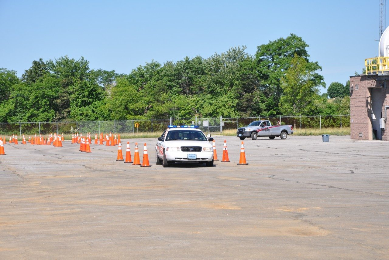 Driving practice during police academy